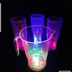 LED Pitcher with Pilsner and Pint Glasses